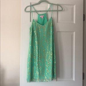 Lilly Pulitzer Spaghetti Strap Metallic Dress